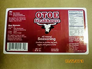 Otoe Steakhouse All Natural Seasoning 4.6oz Great All Meats and Vegetables