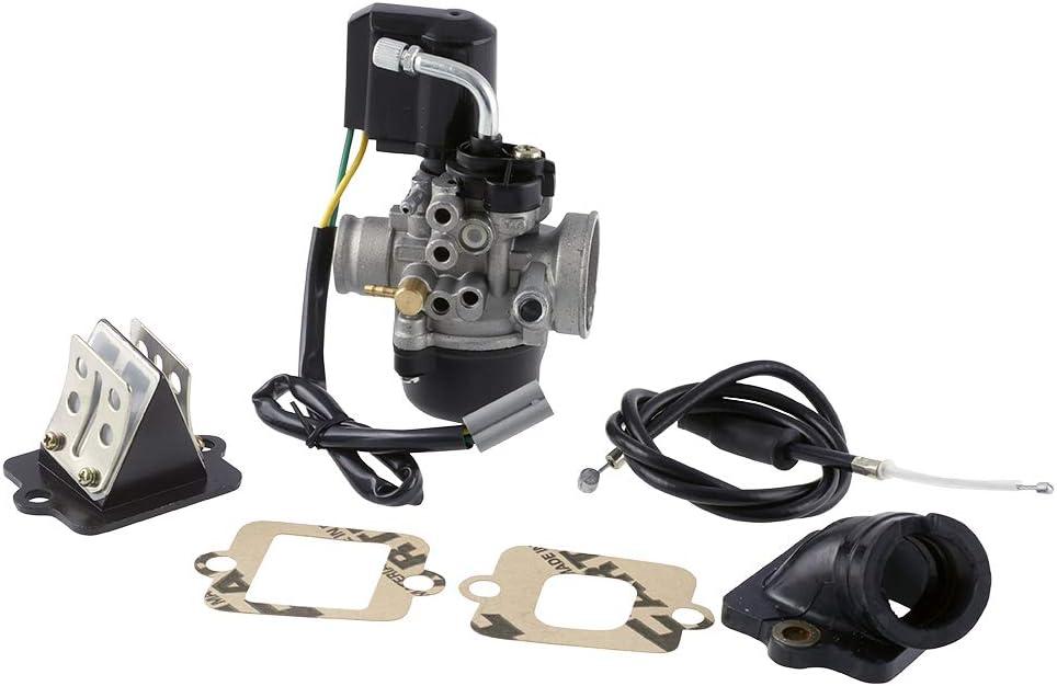 Vergaser 17 5mm Sport Mit E Choke Ansaugstutzen Membrane Gilera Vespa Auto
