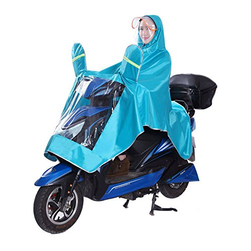 Men Women Coat Raincoat Double Hat Rain Poncho Oxford Cape Garment Jacket Anti-rain Big Thick Breathable with Raincoat Mirror Waterproof for Motorcycle Scooter Cycling Bike -