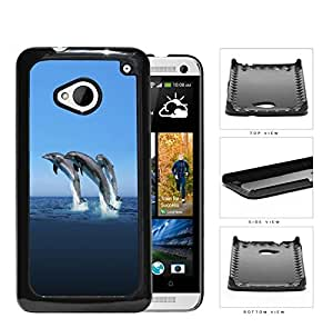 Dolphins Swimming In Ocean Hard Plastic Snap On Cell Phone Case HTC One M7