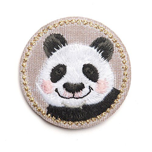XUNHUI Animals Embroidered Cute Panda Patches for Clothing Iron Applique Clothes Stickers Badge DIY 1 Piece (Panda Iron)