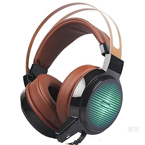 XHKCYOEJ Headset Stereo Headset/Headphones/Headphones/Competition/Bass/Ear/Net Coffee,Black: Amazon.co.uk: Electronics