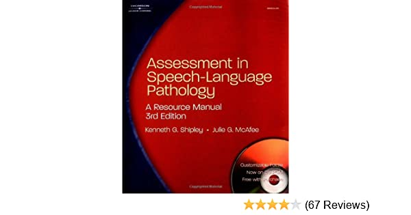 Assessment In Speech Language Pathology A Resource Manual Spiral