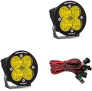 product image for Baja Designs Squadron-R Sport Pair ATV LED Light Wide Cornering Amber Pattern
