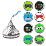 Video Games Label for HERSHEY'S KISSES® chocolates - Birthday Candy Sticker Party Favor - Set of 240