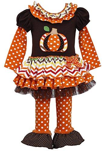 Bonnie Jean Little Girls' Patch Work Pumpkin Tunic & Leggings 6 (B33331-PL)]()
