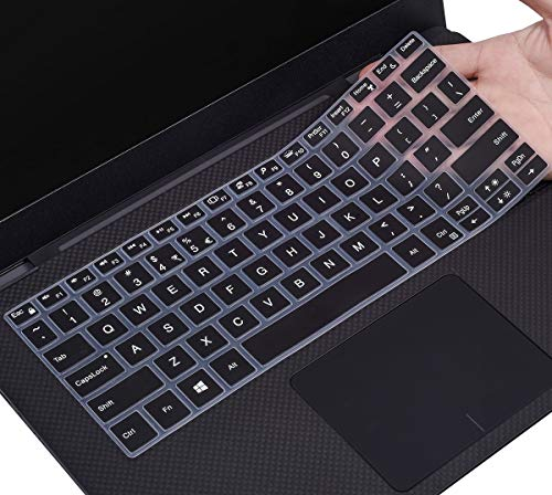 CaseBuy Keyboard Skin for 2019 DELL XPS 13 9380, Dell XPS 13 Keyboard Cover, DELL XPS 13 9370 9365 13.3 Laptop(NOT Fit XPS 13 7390), Black
