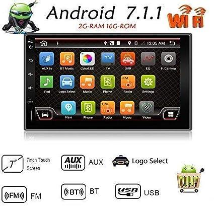 "7 ""Android 7.1 estéreo de navegación para coche 2 DIN Quad Core coche entretenimiento"