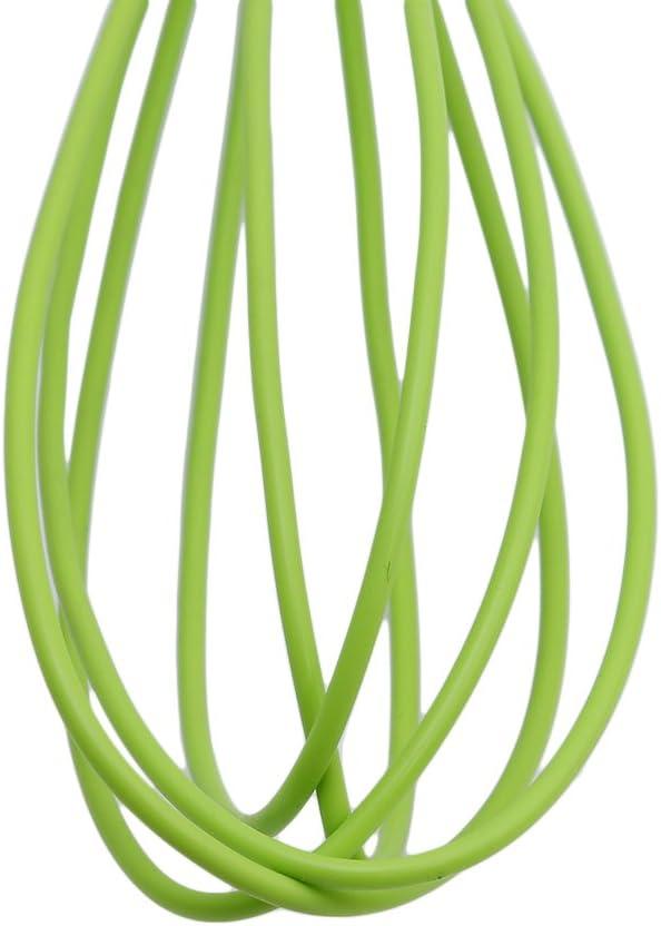 Green VWH Egg Whisk Non Stick Egg Beater Frother Milk Beater for Blending Whisking Beating Stirring