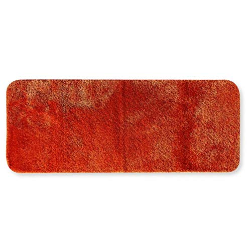 Duet 24-Inch x 60-Inch Bath Rug Fade Resistant, Luxuriously Soft (Paprika)