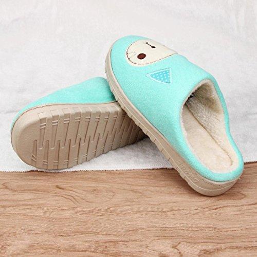 Ama (tm) Donne Caramelle Colori Morbidi Caldi Pantofole Casa Interna Antiscivolo Scarpe Verde Menta