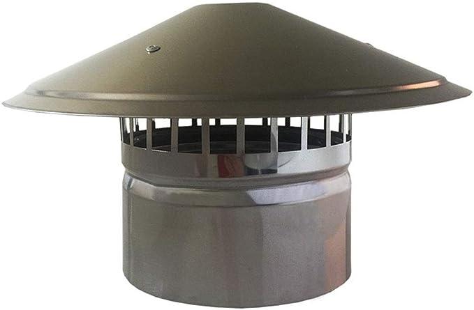 Chapeau de Protection Contre La Pluie Et La Neige Installation Facile,100mm LXLTL Couvercle de chemin/ée en Acier galvanis/é