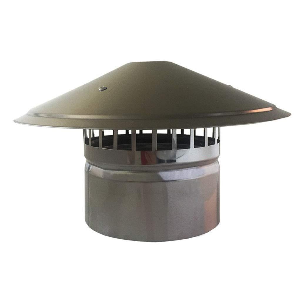 LXLTL Chapeau De Chemin/ée Galvanis/é Chapeau de Ventilation Hotte Chapeau de Protection Contre La Pluie et La Neige Installation Facile,100mm