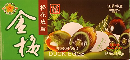 Gold Plum Preserved Duck Eggs, 8 - Gold Plum