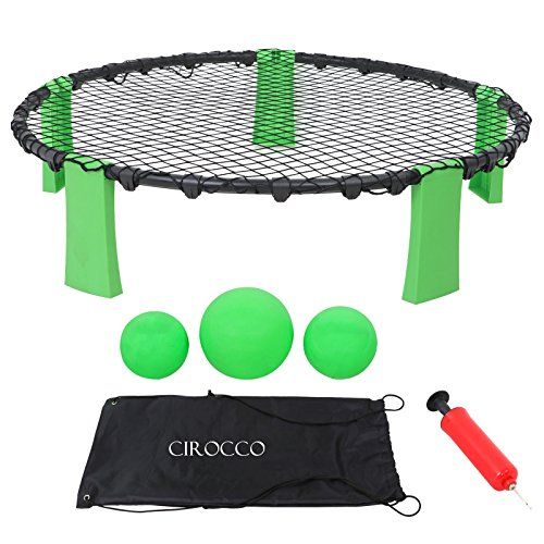 Cirocco Slam Ball Sports Game Set – Volleyball Toss Game Set – Ball Spike Battle Game | Outdoor Indoor Gift for Adult Teen Family Friend | Ideal for Yard Lawn Beach Tailgate Garden Party | Super Fun by Cirocco