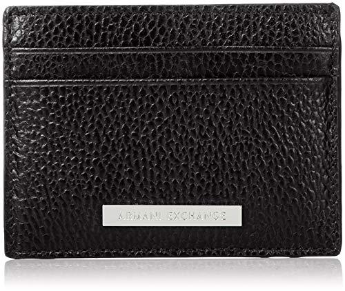 Armani Exchange Men's Credit Card Holder, nero/black, UNI Designer Credit Card Holder