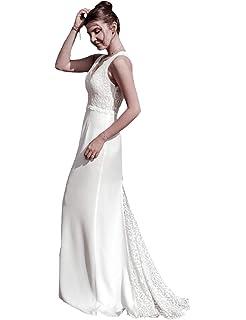 Ever-Pretty Vestito da Sera Lungo Donna Senza Spalline Ricamato Senza  Maniche 07232 e366d5d8a72