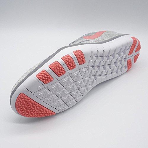 Nike Women Free Transform Flyknit Cross Scarpe Da Allenamento Bianco / Brillante Melone / Lupo Grigio