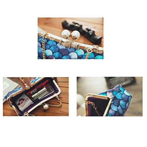 Fashion Fashion Party Clutch Bag Wild Evening A Party Ladies Mermaid Bag Cheongsam Diagonal Bag Bag 7nIx0qwHH