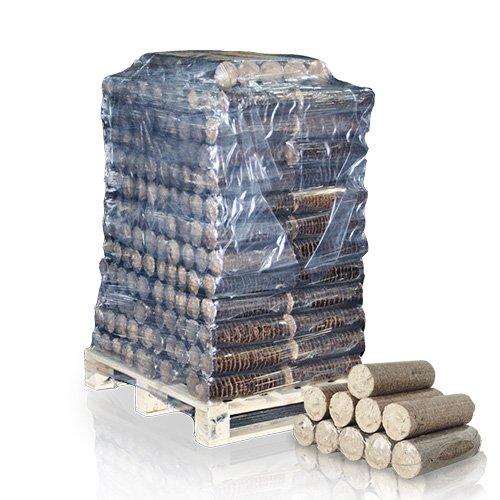 PALIGO Holzbriketts Nestro Hartholz Eiche Kamin Ofen Brenn Holz Heiz Brikett 6kg x 50 Gebinde 300kg / 1 Palette Heizfuxx