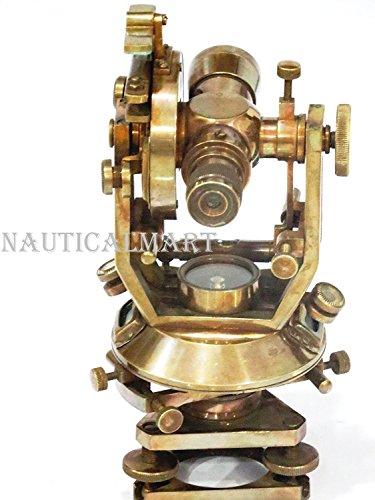 NauticalMart Nautical Antique Brass Theodolite Optical Surveying - Surveying Antique Instruments