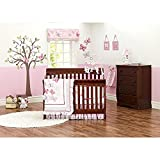 Just Born Antique Chic 7 Piece Crib Bedding Set, Butterfly/Floral Pink