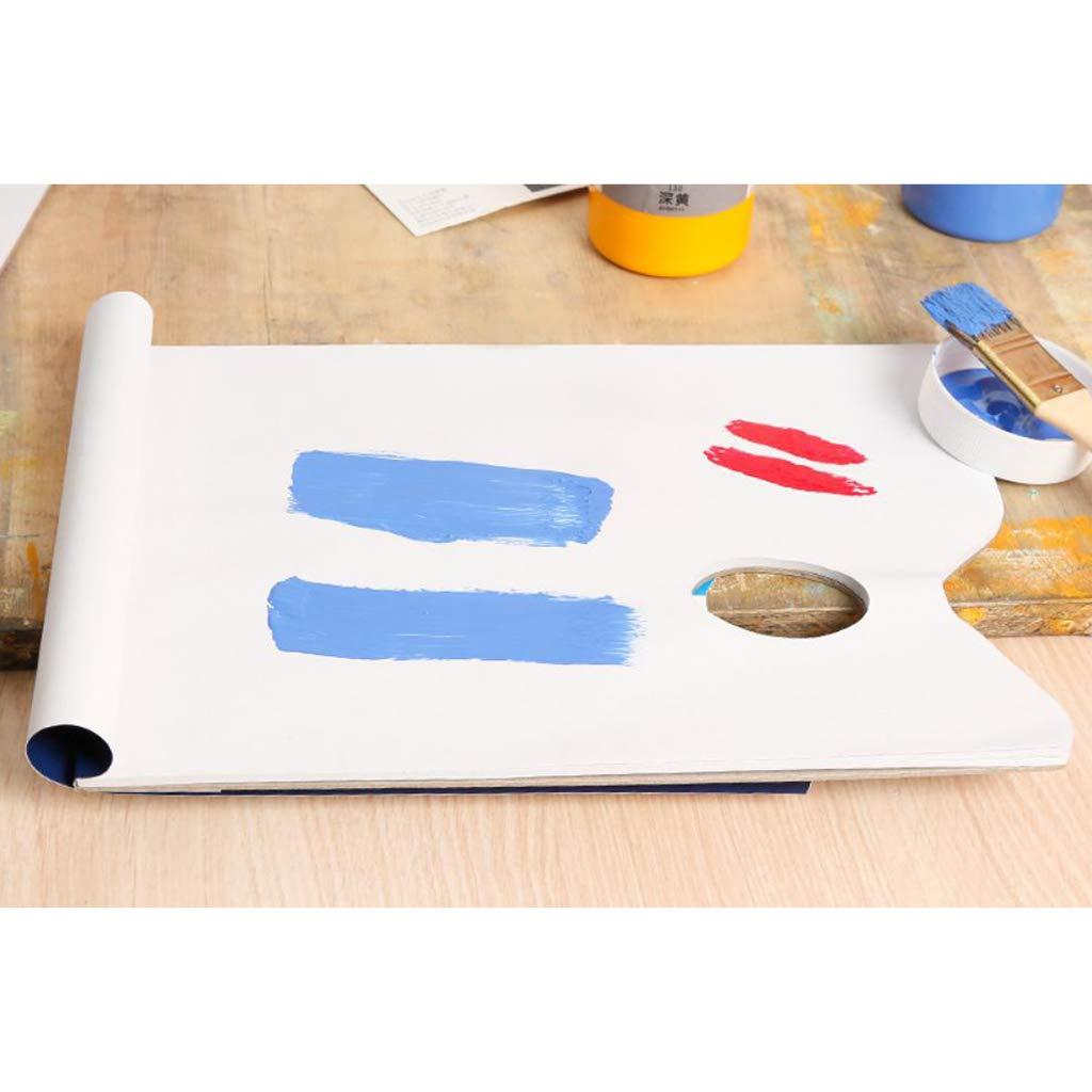D DOLITY Palette papier Jetables Palette Pad Coussinets de lartiste avec 36 feuilles pour huile Acrylique aquarelle 297X210mm