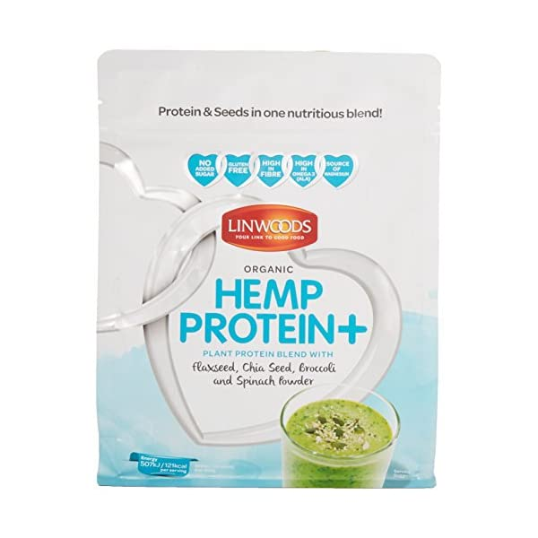Linwoods Organic Hemp Protein Plus with Flaxseed/Chia Seed/Broccoli and Spinach Powder, 360 g