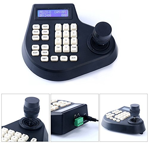 2/3/4 Axis Dimension CCTV Joystick Keyboard Controller LCD Display for PTZ Speed Dome Camera Control (3 - Camera Joystick