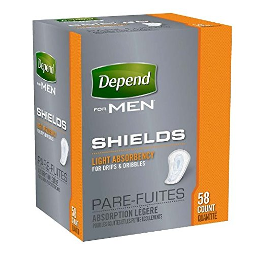 Depends Shields For Men Size 58ct Depends Shields For Men 58ct