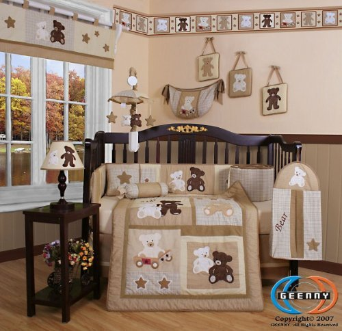 geenny teddy bear crib bedding