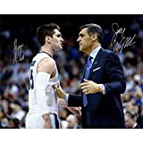 Steiner Sports Jay Wright / Ryan Arcidiacono Signed On Court with Jay Wright 16x20 Photo