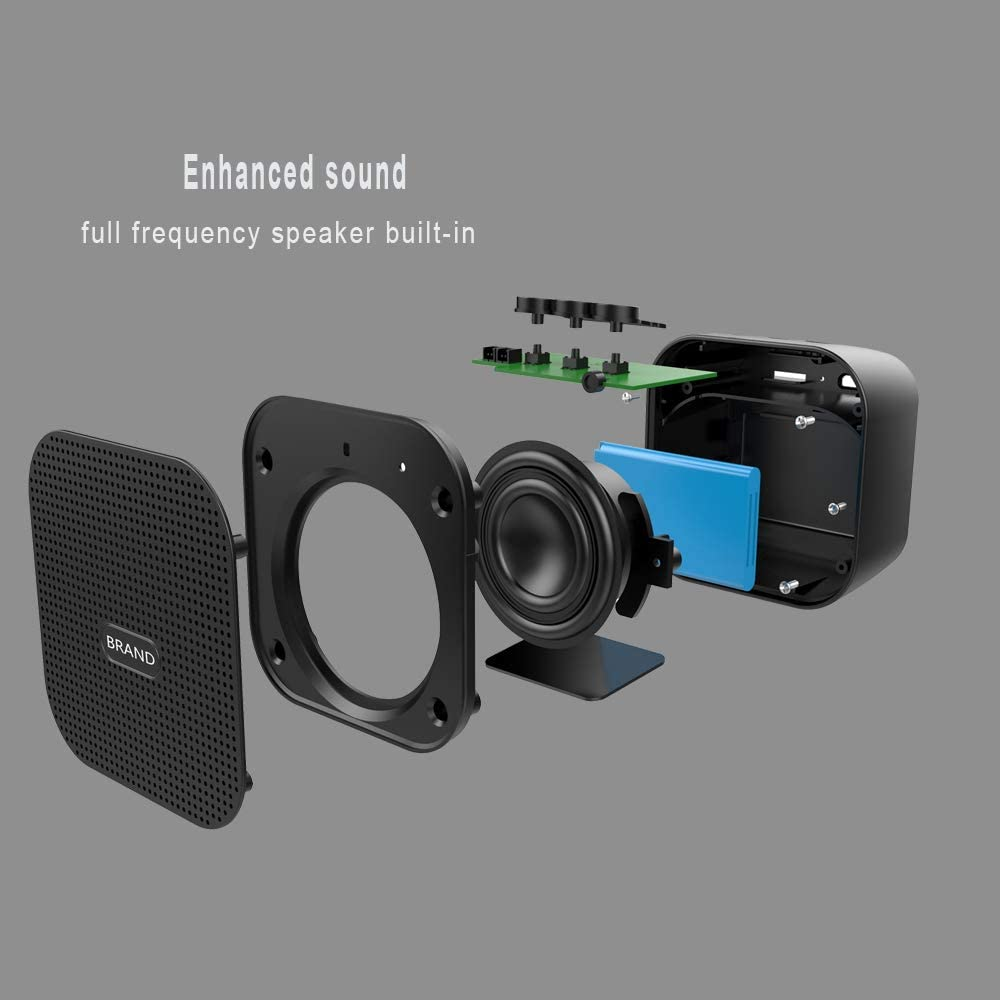 Bluetooth V4.2 Updated Version Black Micro SD Card Supported Perfect for Home and Travel Wireless Speaker with Loud Stereo Sound ISTOURI Portable Bluetooth Speaker