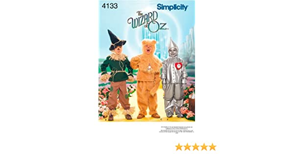 279618ca3 Amazon.com: The Wizard of Oz Scarecrow, Lion, Tin Man - Simplicity Sewing  Pattern 4133 Child Costumes, A (3-4-5-6-7-8): Arts, Crafts & Sewing