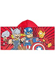 Marvel Super Hero Adventures Super Stars Kids Bath/Pool/Beach Hooded Towel - Featuring The Avengers - Super Soft & Absorbent Cotton Towel, Measures 22 inch x 51 Inch (Official Marvel Product)