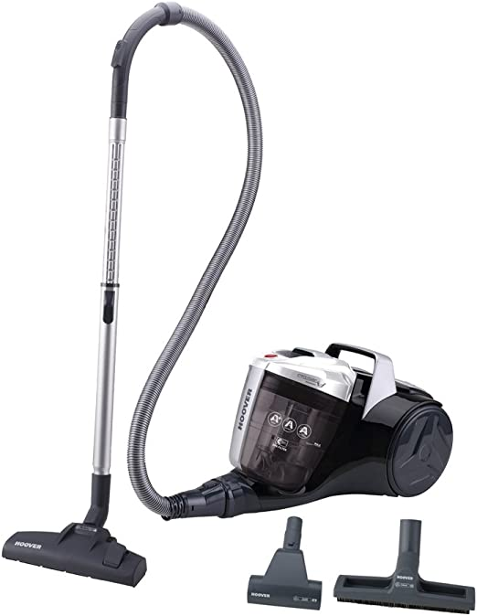 Hoover Breeze BR30PET - Aspirador sin bolsa, Aspirador ciclónico, Cepillo especial para pelo de mascota, Cepillo parquet, Filtro EPA, 550W, Depósito 2L, 78dBA, Potencia fija, Cable 8m, Color gris: Hoover: Amazon.es: Hogar