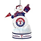 MLB Texas Rangers LED Snowman Ornament