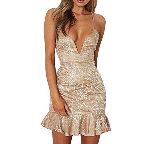 Misaky Clearance Women's Dresses-Summer Floral Bohemian Spaghetti Strap Button Down Swing Midi Dress with - Size Informal Plus Wedding Dress