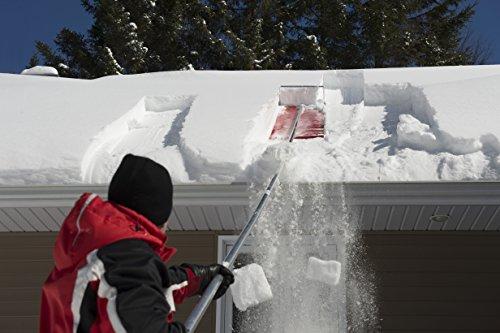 SnowPeeler Premium Snow Rake with 20-FT Handle and Heavy-Duty Vinyl Slide. Gravity does the work!