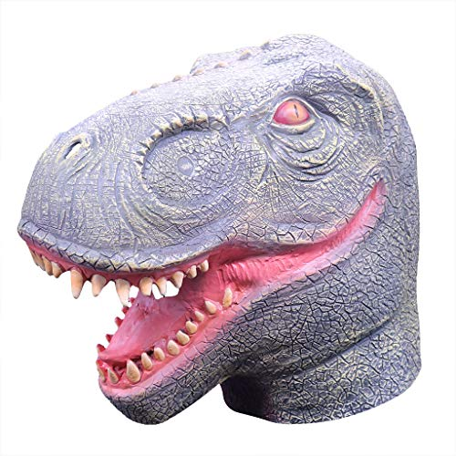 Binory Comical Mask Masquerade Dinosaur Head Mask,Animal Cosplay Costume The Latex Mask,April Fool Decoration Halloween Accessories Novelty & Gag Toys for Kids Boys Girls -