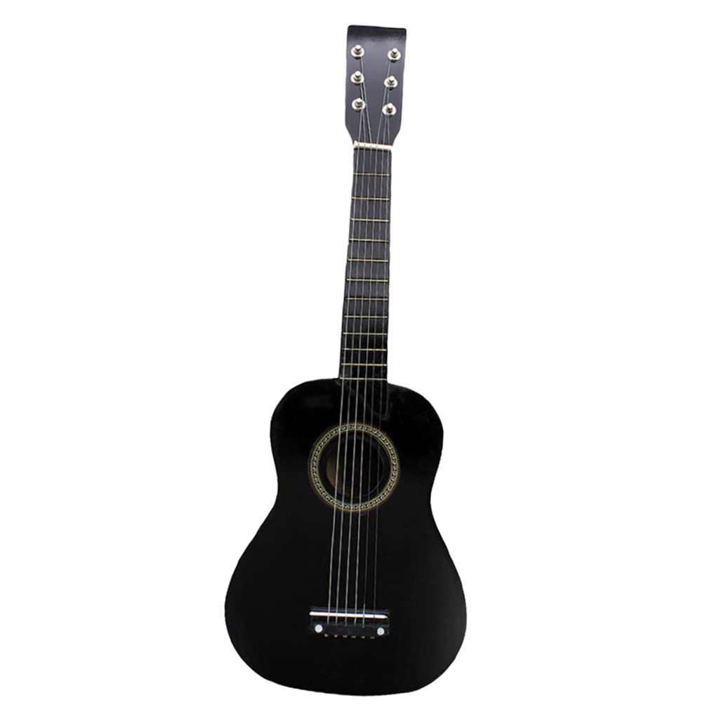 Dovewill Mini Acoustic Guitar 23 Inch 6 Strings Guitar for Beginners Novice Adults Practice Learning Black