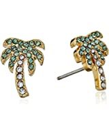 kate spade new york Out Of Office Palm Tree Studs