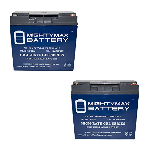 2V 18AH GEL Battery for DAYTONA 3 GT Wheelchair S35006GT - 2 Pack brand product (Daytona 3 Scooter)