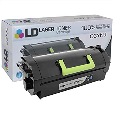 LD © Compatible Replacement for Dell 332-0131 (03YNJ) Extra High Yield Black Laser Toner Cartridge for use in Dell Laser B5460dn Printer