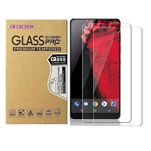 Essential Phone PH-1 Screen Protector 2 Pack SWINCHO Tempered Glass Screen Cover Essential Phone PH-1 Case Friendly Anti-Fingerprint