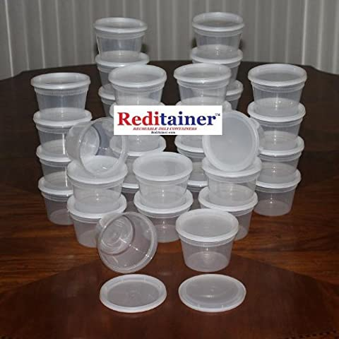 Reditainer Deli Food Storage Containers with Lid (36, 16 Ounce) - 16 Ounce Plastic Containers