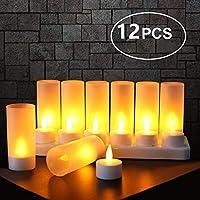 Base de Vase Partie D/écorations Blanc froid Sol de Piscine 12pcs Lumi/ère LED Submersible flamme LED Bougies Chauffe-Plat /à piles F/ête Submersible pour Aquarium Salle de Bains /Étang