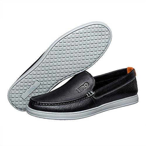 on ZRO popular Deerskin casual Mens comfortable Black shoes slip qxTIqrS