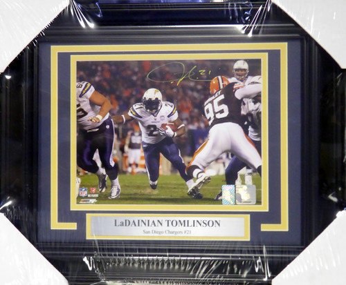 LaDainian Tomlinson Signed Framed 8x10 Photograph San Diego Chargers - Certified Genuine Autograph By PSA/DNA - Autographed Photo