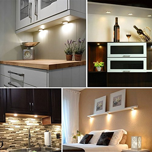 RONRI Under Cabinet Lighting Kit, 1500m Puck Lights, Under Counter Lighting, 4000K Natural White, All Accessories Included, Kitchen Lighting, Closet Light, Set of 6 by RONRI (Image #8)